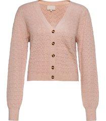 diana knit cardigan gebreide trui cardigan roze minus