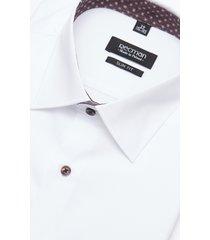 koszula bexley 2719e długi rękaw slim fit biały