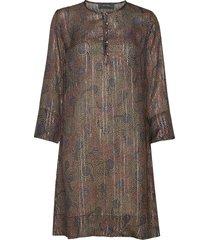 brisa peacock dress knälång klänning multi/mönstrad mos mosh