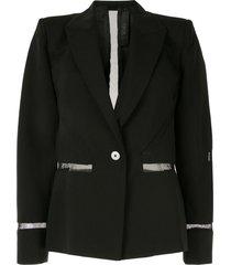 dion lee tailored mesh insert blazer - black