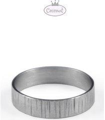 obrączka forest - rodowane srebro każdy rozmiar