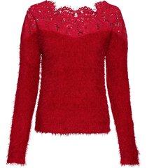 maglione con pizzo e spalle scoperte (rosso) - bodyflirt