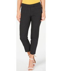 anne klein micro-dot cropped pants