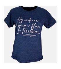 t-shirt fluxo de receber azul