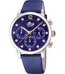 reloj trendy azul oscuro lotus