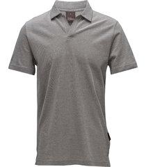 barrey poloshirt s/s polos short-sleeved grijs oscar jacobson