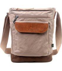 tsd brand urban light coated canvas crossbody bag