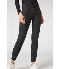 calzedonia comfort leggings woman dark grey size xs