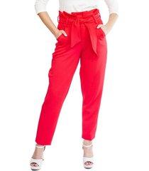 pantalon flor rojo natalia seguel