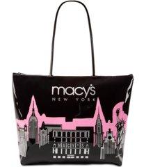 macy's city glitter zip tote, created for macy's