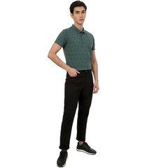 pantalon hombre 5 bolsillos con taches color negro, talla 32