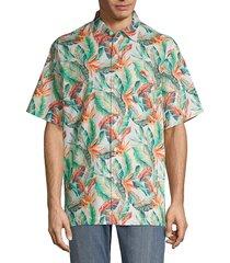 tommy bahama men's breakwave fronds short-sleeve button down shirt - coconut cream - size l