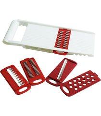 cortador/ralador multiuso plástico 5 lâminas keita