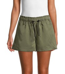 pure navy women's toggle-drawstring shorts - olive - size m