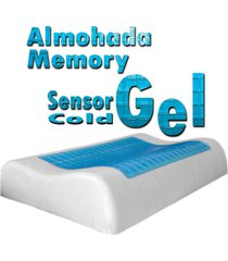 almohada gel frío sensor memory foam indeformable - con funda