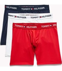 tommy hilfiger men's microfiber boxer brief 3pk red/white/navy - s