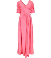 lanvin long silk dress