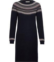 dresses flat knitted knälång klänning blå esprit casual