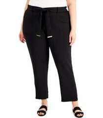 calvin klein plus size belted pants