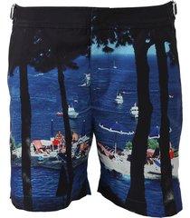 bulldog tuscan mid-length swim shorts