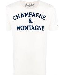 champagne & montagne off-white t-shirt