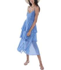 allison new york women's floral tiered dress