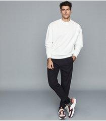 reiss sanro - interest neckline sweatshirt in ecru, mens, size xxl
