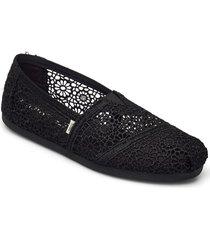 black moroccan crochet ballerinaskor ballerinas svart toms
