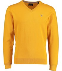 gant pullover geel katoen wol mix 83102/710
