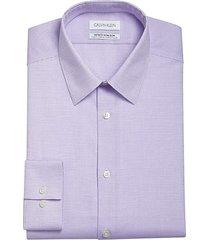 calvin klein men's infinite slim fit dress shirt lavender mist - size: 17 36/37