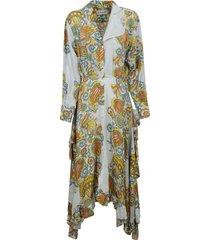lanvin asymmetric printed shirt dress