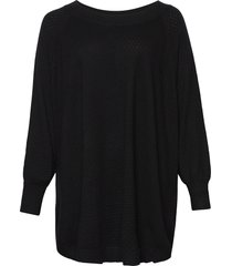 poncho plus ribbed edges round neck knit poncho regnkläder svart zizzi