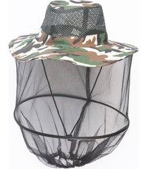 mujeres hombres mosquito net cap midge fly insecto abeja sombrero cabeza