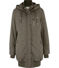 giacca lunga imbottita con cappuccio (verde) - bpc bonprix collection