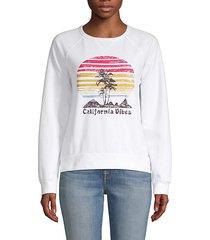 graphic raglan-sleeve sweatshirt