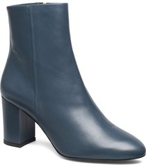 miranda high bootie shoes boots ankle boots ankle boots with heel blå filippa k