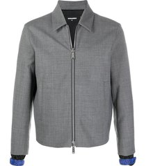 dsquared2 strap-detail collared jacket - grey