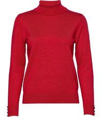 pullover-knit light turtleneck polotröja röd brandtex