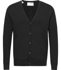 slhberg ls knit v-neck cardigan b ex stickad tröja cardigan svart selected homme