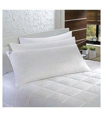 travesseiro agarradinho 50x90cm pena e fibra 233 fios plumasul