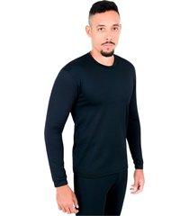 blusa rt segunda pele térmica masculina frio intenso preta