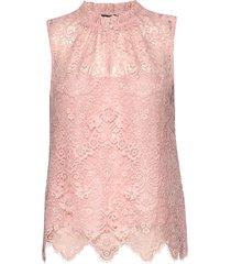 3164 - raya f blouse mouwloos roze sand