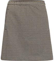 fawn short check skirt kort kjol svart modström