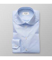 eton heren overhemd licht poplin fijne streep contemporary fit