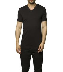claesens men t-shirt v-neck black ( 2 pack)