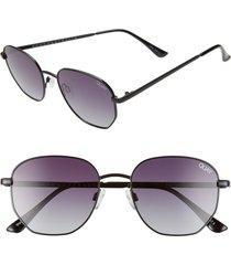 men's quay australia big time 54mm gradient square sunglasses - black tortoise/ smoke