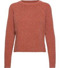 ava knit pullover stickad tröja röd minus
