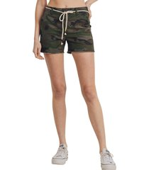 women's l.t.j belted camo shorts, size small - green