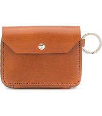 as2ov foldover small coin wallet - brown