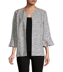textured stripe jacket